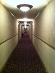 The infamous stretch of 4th floor hallway... right outside of room 412.