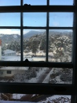 The view from my room, 412. It had snowed that morning.